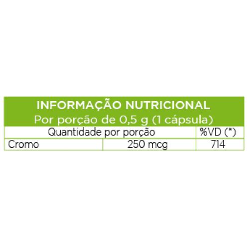 Picolinato de Cromo 60 cápsulas