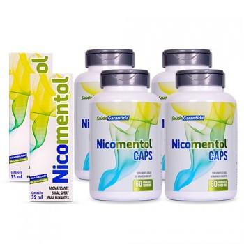Kit Completo 2 Nicomentol Spray +4 Nicomentol Caps