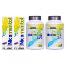 Kit Completo 2 Nicomentol Spray +2 Nicomentol Caps