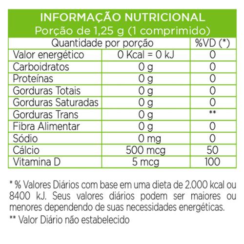 Cálcio + D3 180 cápsulas