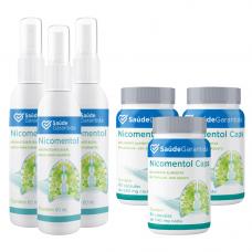 Nicomentol 3 spray + 180 cápsulas