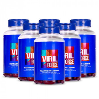 Viril Force Kit 12 meses - Polivitamínico Masculino